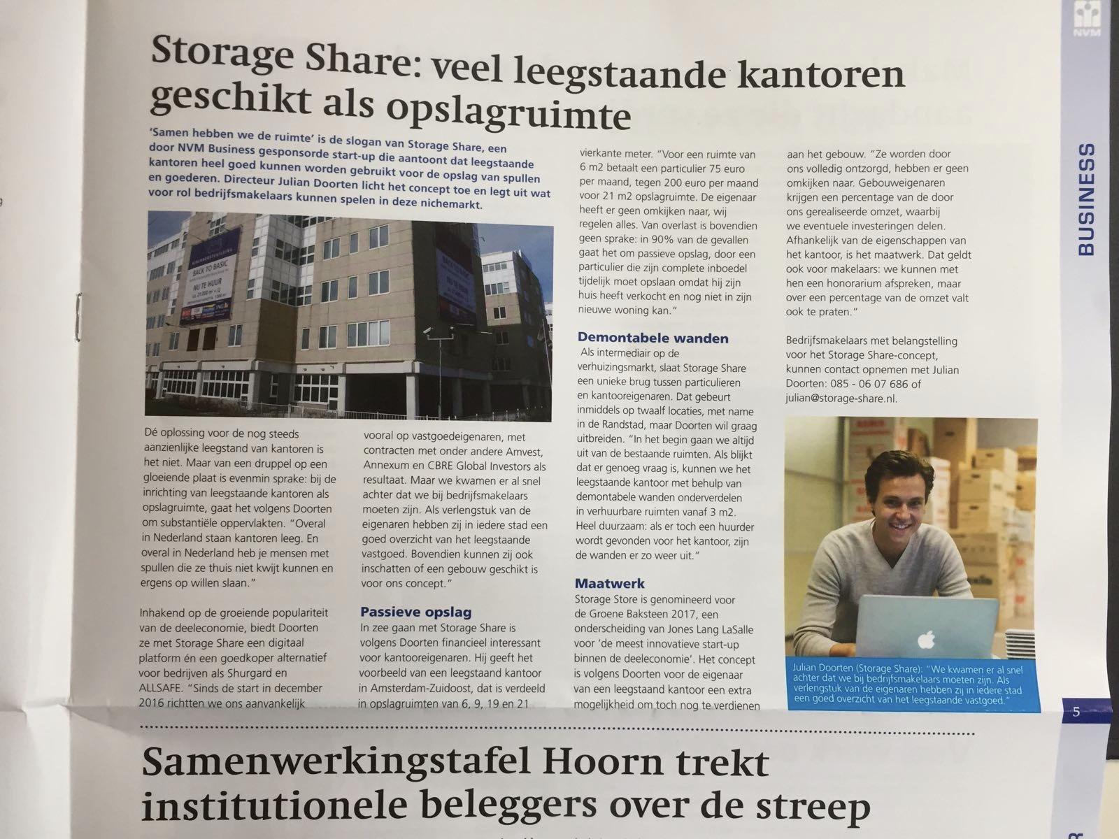 Storage Share: veel leegstaande kantoren geschikt als opslagruimte